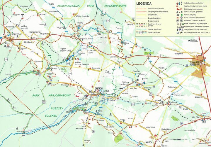 Roztocze - Mapa