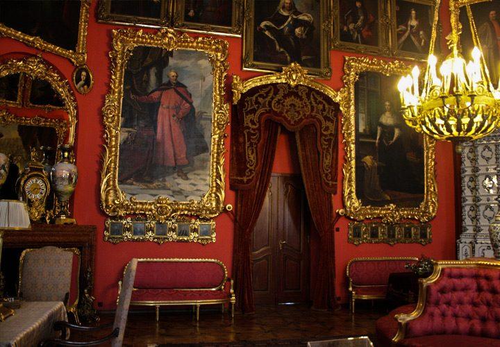 Wnętrze Pałacu Zamoyskich w Kozłówce