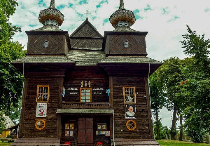 Modrzewiowy kościół parafialny p.w. Zwiastowania Najświętszej Maryi Panny