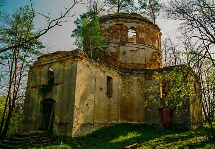 Kniazie - Ruiny cerkwi